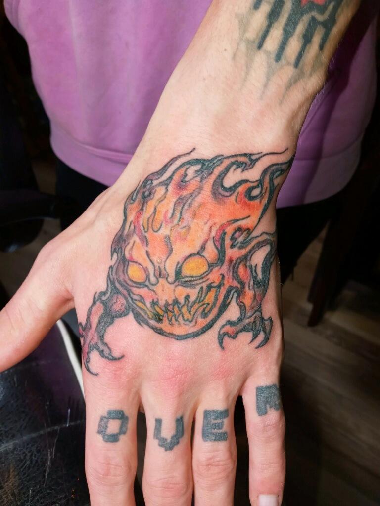 Fireball Tattoo Design Good Times Tattoo Seattle