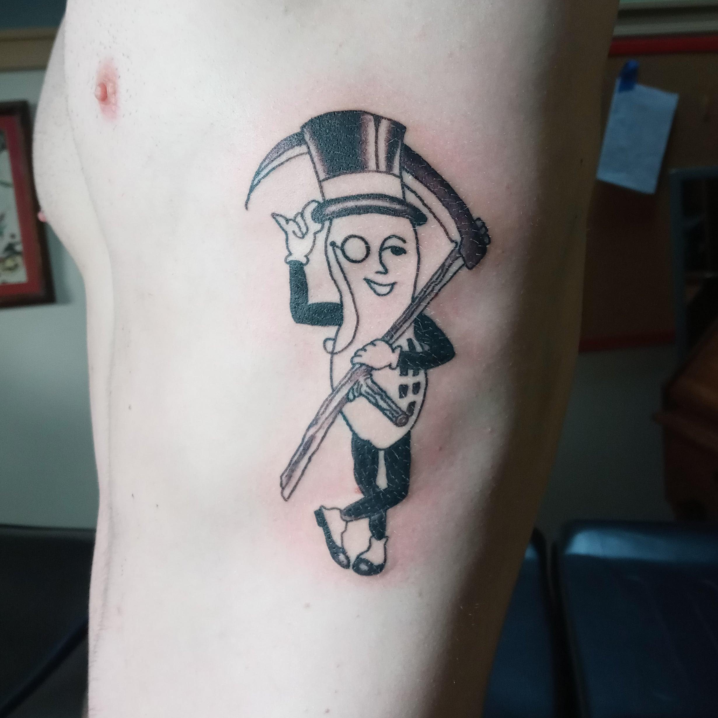 Mr Peanut Tattoo Design Good Times Tattoo Seattle